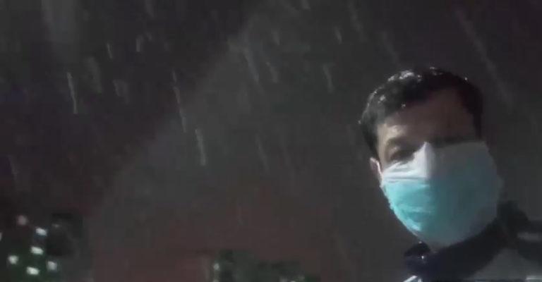 Работа видеоблогера Тимура ИСМАИЛОВА:  Апрельский снег в Ташкенте